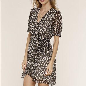 Heartloom Cheri Dress in Leopard Size XS